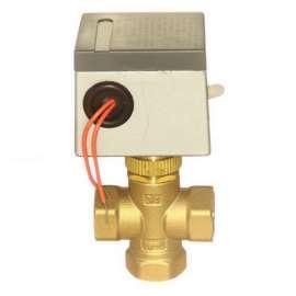 CV-334/220 3-х ходовой клапан с электроприводом 3/4