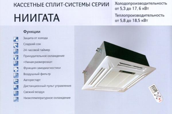 Кассетный кондиционер DAX D5KS24H/D5LC24H