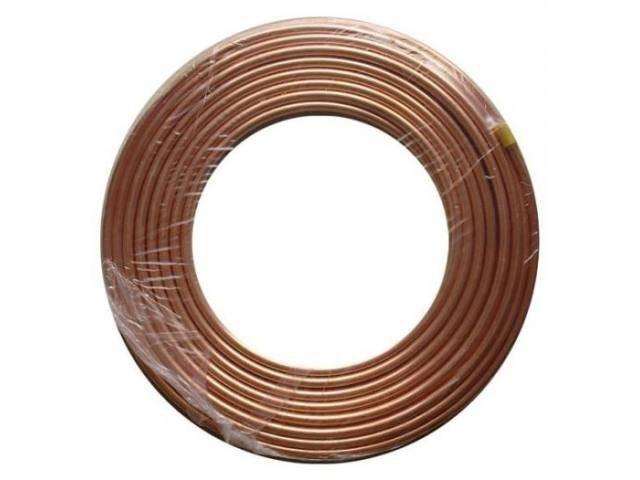 Труба медная Halcor 1/4, толщина стенки 0,65 мм диаметр внешний 6,35мм Бухта 15м