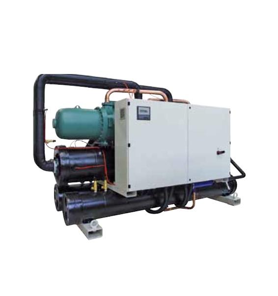 Холодильные машины с водяным охлаждением, тепловые насосы и компрессорно-испарительные агрегаты от 670 до 1667 кВт
