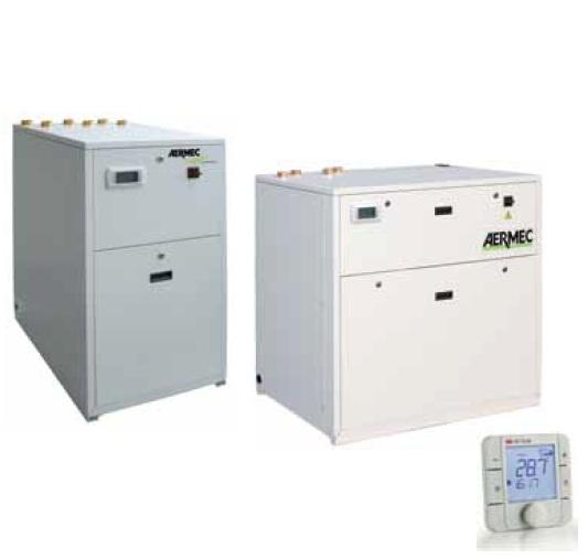 Холодильные машины с водяным охлаждением, тепловые насосы и компрессорно-испарительные агрегаты от 8 до 65 кВт