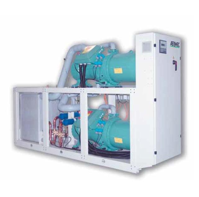 Холодильные машины с водяным охлаждением, тепловые насосы и компрессорно-испарительные агрегаты от 184 до 767 кВт