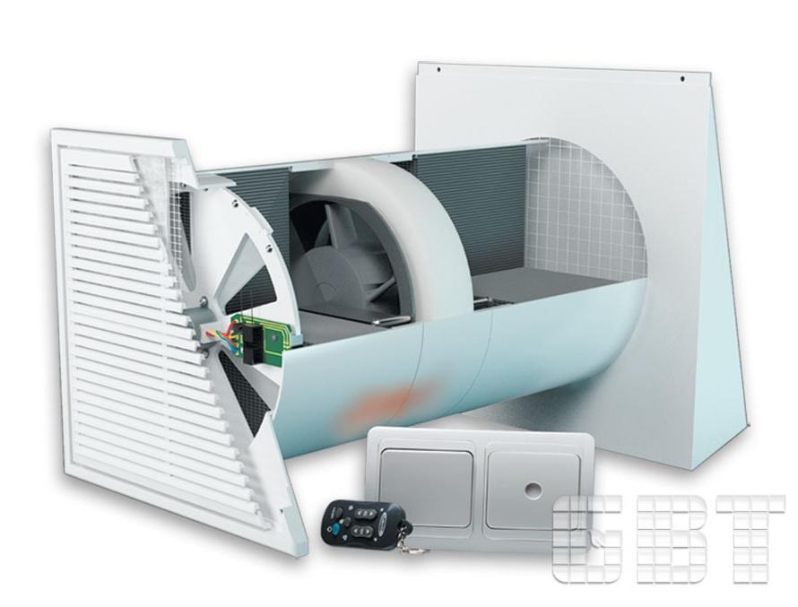 Установка вентиляционная рекуперативная компактная УВРК 50 МА