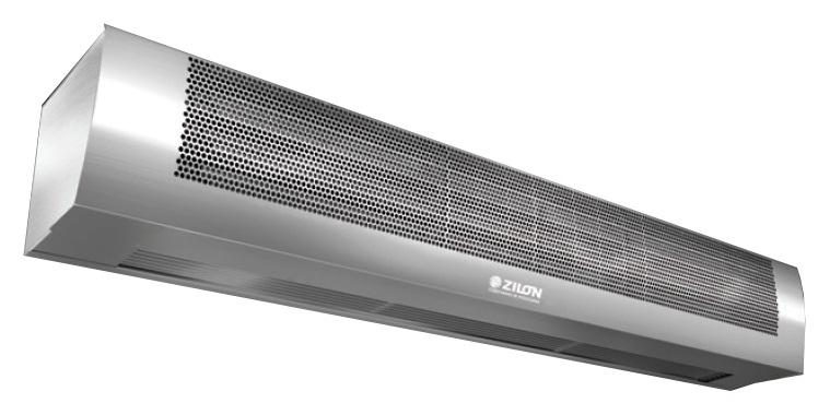 Тепловая завеса ZVV-9T серии Мастер Декор с электрическим нагревом в корппусе из нержавеющей стали
