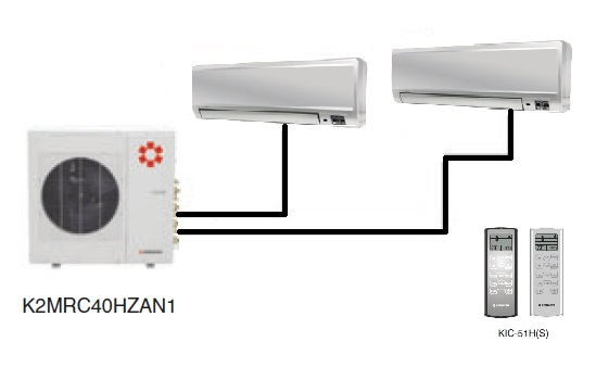 Kentatsu K2MRC40HZAN1/KMGC25HZAN1(2)
