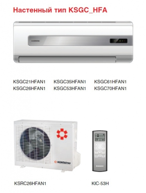 KENTATSU KSGC35HFAN1/KSRC35HFAN1